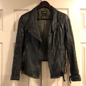 Danier Crop Leather Jacket - 3XS